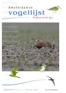 cover Avifaunistische Lijst 2015